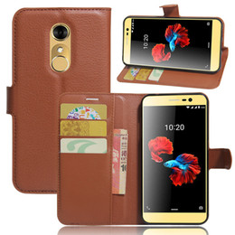 Wholesale Zte Blade Leather White - For ZTE blade A910 Litchi Pattern PU Leather Wallet Stand Case Cover with Card Slot