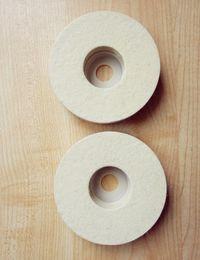 Polidor de roda on-line-Moedores de ângulo de moagem disco disco abrasivo 100% roda de polimento de lã para rebarbadoras moagem Disco 100 * 8mm Polisher Pad Wheel