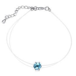 Wholesale Wedding Jewellery Wholesale China - Women Jewelry Crystal from Swarovski 18K White Gold Plated Bracelets Jewellery Birthday Gift for Girlfriend 21566