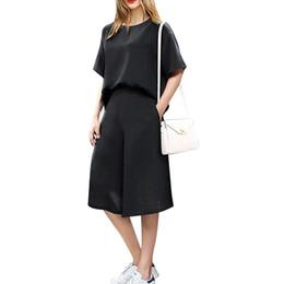 Wholesale Womens Pants Large - New Spring Autumn Casual Half Sleeve Rompers 2016 Womens Elegant 2PCS Jumpsuit Loose Playsuit Tops+Pants Large Size XL-5XL