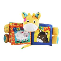 Wholesale Baby Reading Books - 20PCS Baby Cloth Book Colorful Knowledge Story donkey dog Kids Reading toys