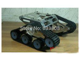 Wholesale Metal Antenna Rc Car - RC Tank metal wheel Chassis Walle Caterpillar Tractor Robot Wall-E Crawler Walle Brrowland Car diy rc toy barrowland uno r3 mega