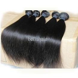 "Wholesale Indian Virgin Hair Extension Bulk - 8""-30"" 5Pcs Indian Virgin Human Hair Wefts Natural Color Weave Straight Bellahair Hair Extensions Double Weft Bulk Wholesale"