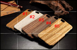 Wholesale Cherry Hard Wood - Eco-friendly wood wooden case for iphone5s 5c SE iphone 6 6plus original ecology wood cover Shockproof Hard cherry wood rosewood phone shell
