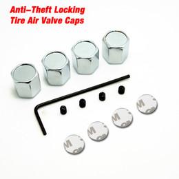 Wholesale Tire Valve Lock - LEEWA New 4PCS Caps Anti-Theft Locking Tire air valve caps For Mixed LOGO Order #3699