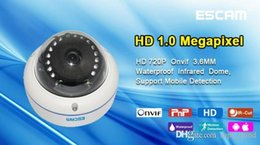 Wholesale Wireless Web Cameras Outdoor - Original Sale Promotion Infrared Escam Q645r Onvif 720p Network Mini Ir Dome Camera H.264 P2p Wireless Outdoor Ip Ip66 Waterproof Web 2015