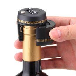 Wholesale Wholesale Plastic Bottle Stoppers - New Plastic Bottle Password Lock Combination Lock Wine stopper vacuum plug device Fechadura Picks Candados Stopper Preservation XL-G249