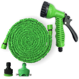 Pulverizador verde online-Factory Supply Plastic Materials Blue Green Water Spray Nozzle Sprayers Expandable Flexible Water Hose Garden Pipe Set Equipment