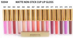 Canada LIVRAISON GRATUITE 15 Pcs Haute Quilité Mat Rouge À Lèvres Coupe Antiadhésive Maquillage Cosmétiques 14 Diff couleurs 4.8g 9204 # Offre
