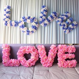Wholesale Fashion Window Displays - Fashion Wedding Decoration Flower LOVE Props Artificial Silk Flower For Backdrop Decoration Rome Window Decorative Flowers