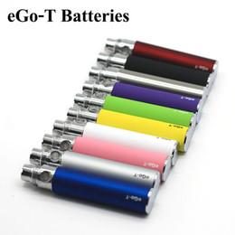 Sumos de ego on-line-650 mAh Ego-T Batterey eGo T E Bateria de Cigarro Vape Pen Suco Atomizador Baterias USB Carregador Longo USB Cabos