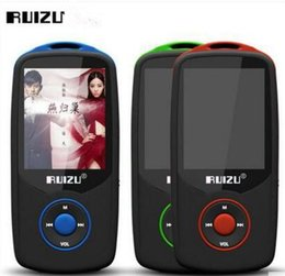 Wholesale Green Screen Games - New Original RUIZU X06 8GB Bluetooth Sports MP3 Music Player with 1.8 Inch Screen 100hours Lossless Recorder FM Radio DHL Fast shipping