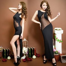 Wholesale Sexy Acme - 2016 Hot selling black Sexy club dress Stage Serve Bar Clothing Longuette The Acme Temptation Reveal Back Close Package Buttocks
