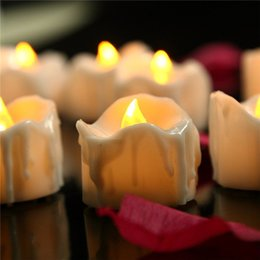 Wholesale Led Candle Flicker Bulb - Warm White Flickering Flameless Candles with Timer Christmas Wedding Party LED Candle Light Battery Operated Tea Lights Electronic Candles
