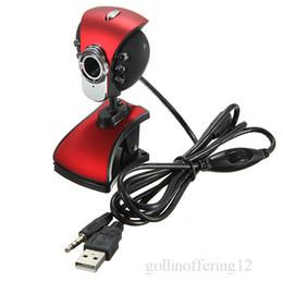 Wholesale Desktop Computers Webcam - 6 LED 50.0Mega 50M HD USB2.0 Video Exposure Auto Color Correction Webcam Web Cam Camera with Mic for PC Laptop desktop Computer