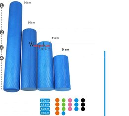 Wholesale Foam Block Black - Wholesale-High Density Floating Point Fitness EVA Yoga Foam Roller for Physio Massage Pilates Tight Muscles Gym Exercises Yoga Blocks 60cm