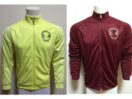 Wholesale Club America Jackets - 16 17 Club America 100th Yellow Outdoor Soccer Training Jacket Fitness Workout Sportswear Club America N98 Red Soccer Training Jacket