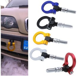 Wholesale European Tow Hook - NEW CAR Racing Rear Tow Towing Hooks for BENZ & Universal European Car Auto Trailer Ring UNIVERSAL TOW HOOK SET for European car
