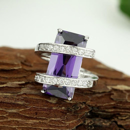 Wholesale Cheap Sterling Silver Fashion Rings - Wholesale cheap Fashion Jewelry Amethyst gemstone 925 sterling silver ring size7 8 9