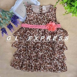 Wholesale New Arrival Baby Girls Pettiskirt - Wholesale- New Arrival NEW Baby Kids Toddler Girl Princess Dress Clothes Pettiskirt Tutu Leopard