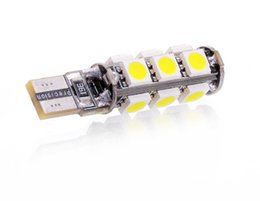 Wholesale Smd Canbus 13 - lampada luci posizione t10 13 SMD 5050 led CANBUS hyper led bianca auto 6000k Reali