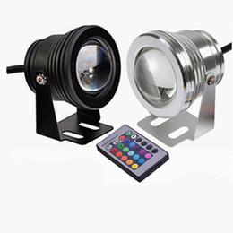 ручной контроллер rgb Скидка 10 Вт RGB LED Подводные Светильники Водонепроницаемый IP68 Фонтан Лампа для Бассейна 16 Красочные Изменение С 24Key ИК-пульт дистанционного светодиодного освещения