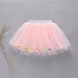 Wholesale Pettiskirt 5t - Baby Girls TUTU Skirts 2016 Summer Colorful Ball Net Yarn Pettiskirt for Kids Children Short Party Dance Skirt H07