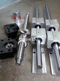 Wholesale Linear Rail Ball Bearing - 2 SBR16-400mm linear rail support +1 ballscrew RM1204-400mm end machine ball screws +1 set BK BF10 end bearing+ 1coupling CNC sets