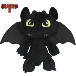 Wholesale Dragon Toothless Plush - Popular plush Toys Dragon Master 2 edentulous Dolls Toothless Night furys plush Dolls doll creative Gift ornaments Wholesale Hot