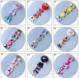 Wholesale Little Girls Wholesale Boutique - Boutique Newborn Bow Clip Fashion Cute Printed Flower Infant Baby Mini Small Bow Hair Clips Hairpins Little Hair Kids Girls Hair Accessories