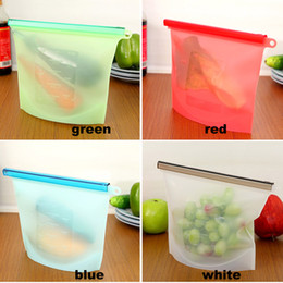 Wholesale Reusable Storage Bags - Reusable Silicone Food Preservation Bag Airtight Seal Food Storage Container Versatile Cooking Bag Free Shipping HH7-157