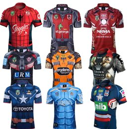Wholesale Patriots Jersey Xl - 17 18 rugby Jersey Newcastle Knights Iron Patriot Brisbane Broncos Iron Man Melbourne Storm Thor Wests Tigers Sea Eagles North Queensland