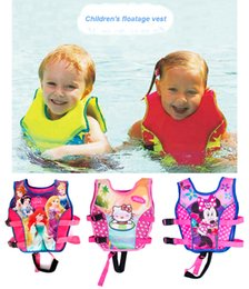 Wholesale Swim Trainer Baby - Wholesale- 2-10Y Baby Float Vest Swim Trainer Kids Swim Vest Girls Life Jacket Swimsuit Swimwear Inflatable Swan Pool Piscine Accessories
