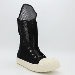 Wholesale Net Outlet - Factory Outlet summer breathable mesh high tide to help men and women shoes hollow out cool boots secondary line high-end nylon TPU shoes
