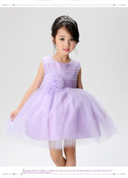 Wholesale Embellished Belts - Big Bow Flower Girl Dresses Cute Ball Gowns First Communication Dresses with Waist and More Flowers Belt Embellished