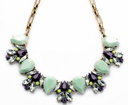 Wholesale Trend For Chain Jewelry - Wholesale-New 2015 Hot Pendant Necklace Women Jewelry Trends Link Chain Statement Necklaces Colar Water Drop Pendants For Gift Party