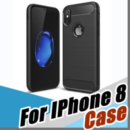 Wholesale Huawei D - Luxury Slim Armor Case for iPhone 8 7 7 Plus 6 5S galaxy S7 S8 edge huawei P9 P10 Lite Carbon Fiber Texture Brushed TPU Soft Back Cover D-SW