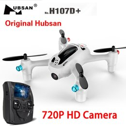 Wholesale Quad Copter Motors - Hubsan H107D+ X4 Plus 2.4Ghz 6-Axis Gyro Mini Drone Camera FPV Dron Quad Copter RC Helicopter with Camera 2.0MP Wide Angle