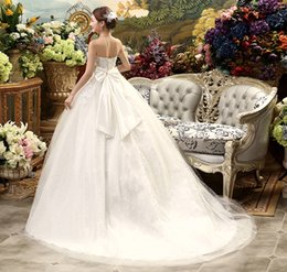 Wholesale Korean Gown For Wedding - Real Photo New High Waist Maternity Wedding Dress For Pregnant Women Long Trailing Nuptial Dress Korean Style Brides Dresses MD01