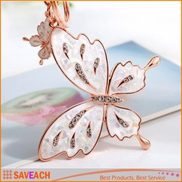 Wholesale butterfly keychains - Butterfly Lovers Car keychain bags buckle key ring women bag key chain, 2 Style , Free Shipping