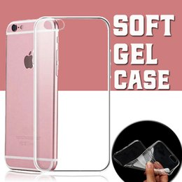 Wholesale Iphone Covers Rubber Skin Gel - Ultra Thin 0.3mm TPU Rubber Gel Soft Clear Transparent Case Cover Skin For iPhone 8 7 Plus 6 6S SE 5S Samsung S8 S7 Edge