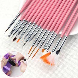Wholesale Paint Tools - Hot-Nail Painting Pen Suit 15 Suit Nail Color Red Orange Nail Tools Wholesale