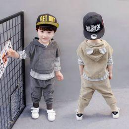 Wholesale Boys Casual Wear - 2017 children's wear fashion boy suits Summer Autumn Style Long Sleeve fashion boy children three-piece suits 80-120 cm