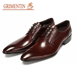 0e2762a91aad0 GRIMENTIN Hot sale mens dress shoes fashion Italian designer men oxford shoes  genuine leather formal business weeding large size male shoes