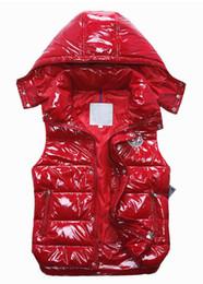 Wholesale Feather Vests - Fashion Classic brand Men women winter down vest feather weskit jackets womens casual down vests coat mens jacket size:S-XXXL