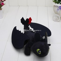 Wholesale Toothless Stuff Toy - 10pcs HOW TO TRAIN YOUR DRAGON plush toys Toothless Night Fury stuffed doll kids Toys approx 23cm