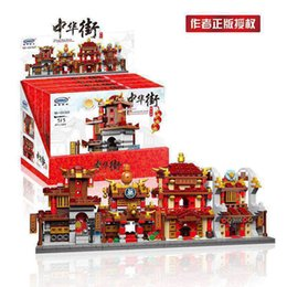 Wholesale Plastic Building Blocks China - XINGBAO 01101 1391 PCS Building Series The China Inn Jewelry Shop Blacksmith Shop Drugstore Set 4 in 1 Building Blocks Bricks Toys Model