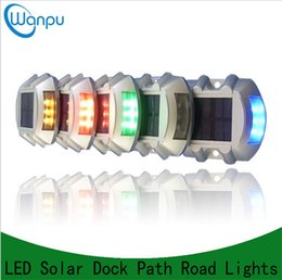 Wholesale Solar Powered Led Lights Dock - Solar Power LED lights Path Driveway Pathway Deck Light Outdoor Waterproof Security Warning Outdoor Stairs Garden Road Dock Lamp