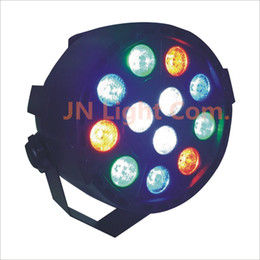 Wholesale Dj Stage Lights Equipments - Free Shipping 12 X 3W LED RGB Par Light 12*3W LED RGB Par Light DMX512 Led Flat DJ Equipments Controller for Party Disco light