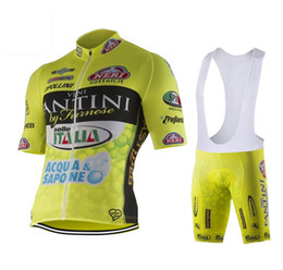 Wholesale Men S Lycra Spandex - FANTI 2016 Tour De France cycling jersey Fluo With bib None Bib shorts Bike Wear Compressed Bicycle Clothing
